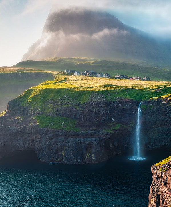 Gorgeous,Morning,Scene,Of,Mulafossur,Waterfall.,Amazinf,Summer,View,Of