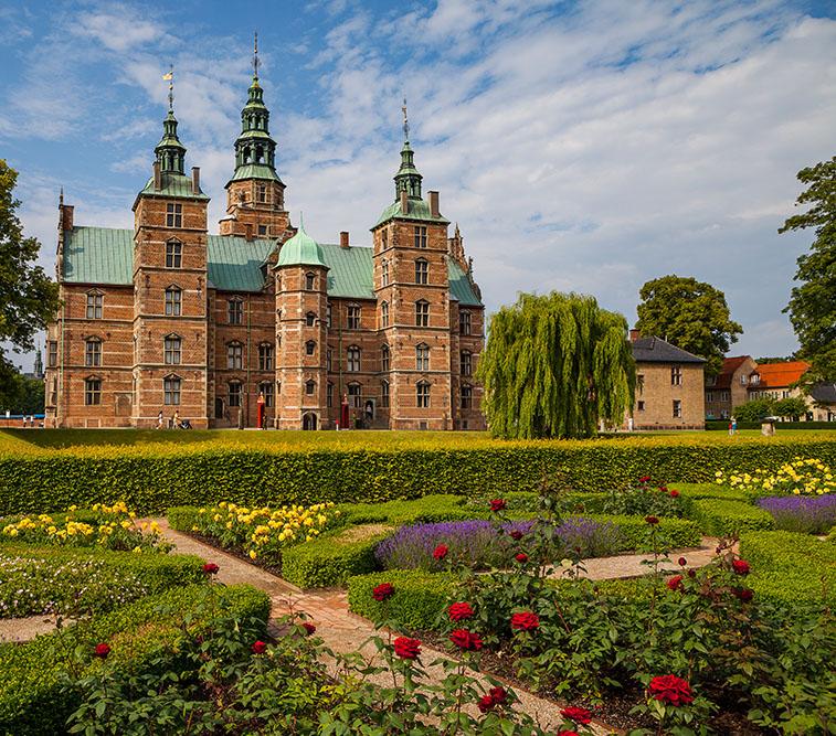 Rosenborg,Castle,,Copenhagen.,Sunny,Summer,Day,View.,Blooming,Terraces,At