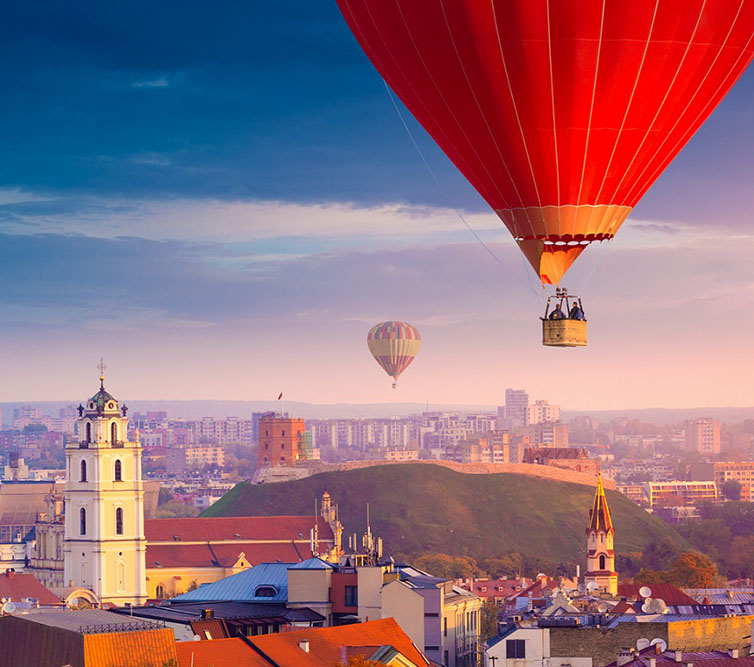 Aerial,View,Of,Vilnius,,Lithuania