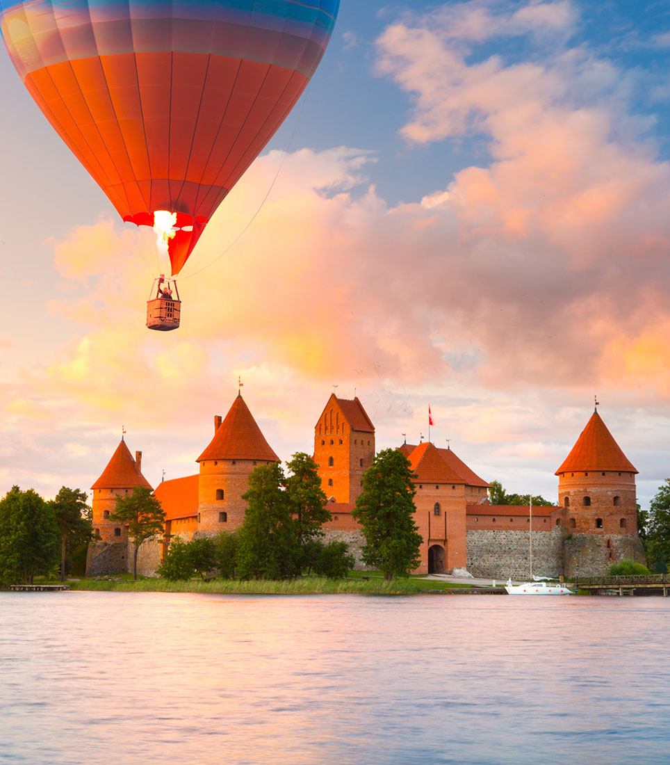 Landscape,With,Red,Brick,Castle,On,Island,And,Flying,Air